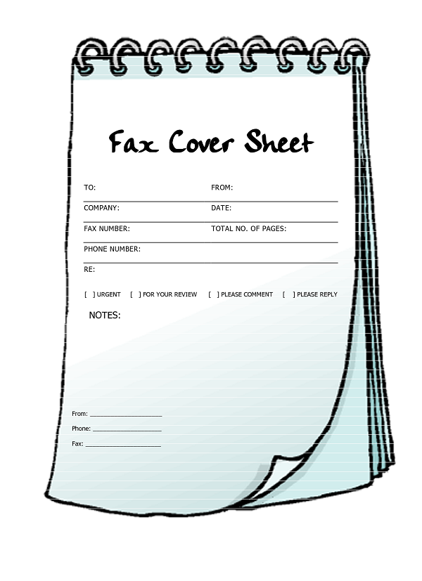 26 fax cover sheet