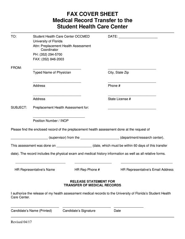 27 medical fax cover sheet