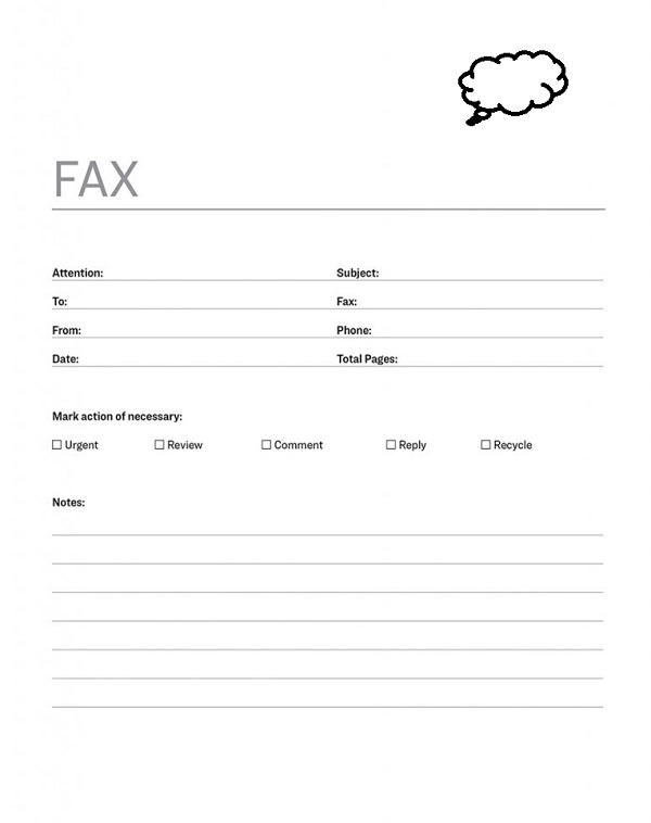 2 Personal Fax Cover Sheet