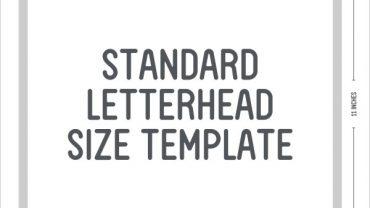 50. Standard Letterhead Size1