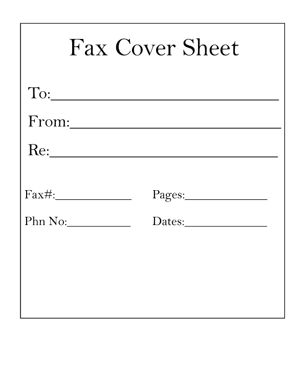 5 Fax Cover Sheet