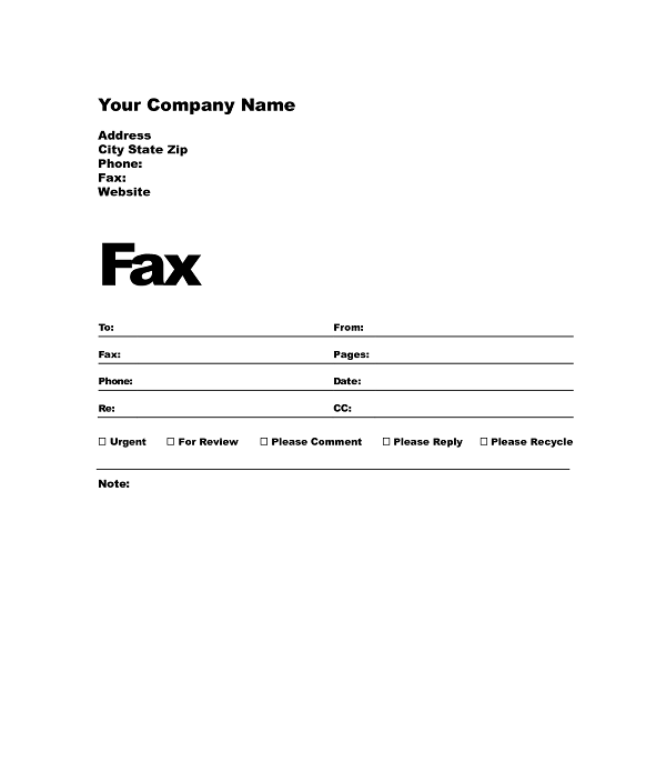 7 fax cover sheet template free