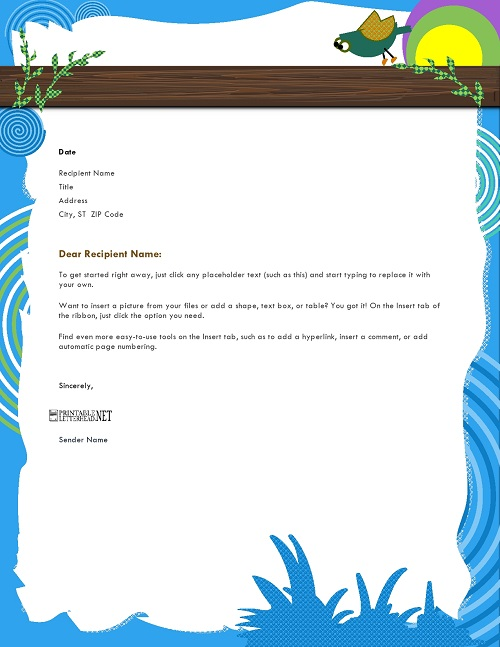 Cartoon Letterhead
