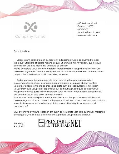 Corporate Letterhead Example