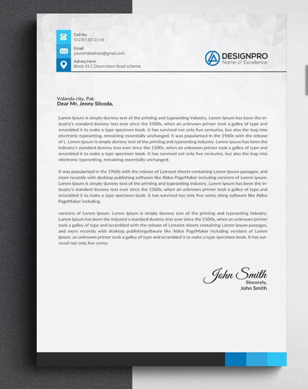 Creative Letterhead Template Free Download