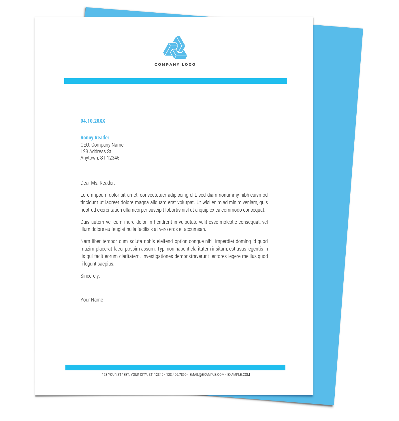 Creative letterheads Download Free