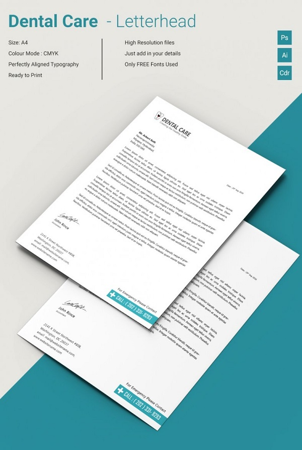 Dental Care Creative Letterhead