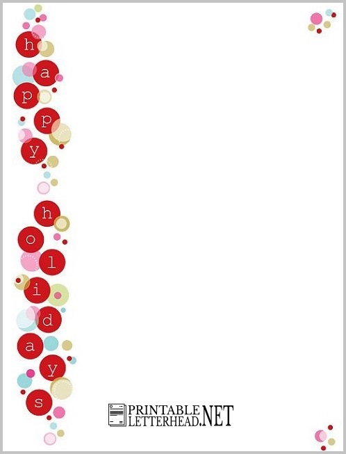 Holiday Letterhead Sample