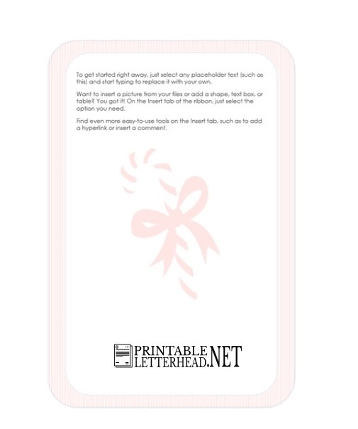 Holiday Letterhead Stationery