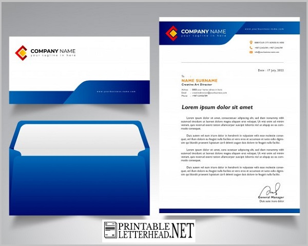 Letterhead envelope template