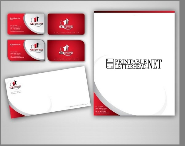 Letterhead envelope visiting card