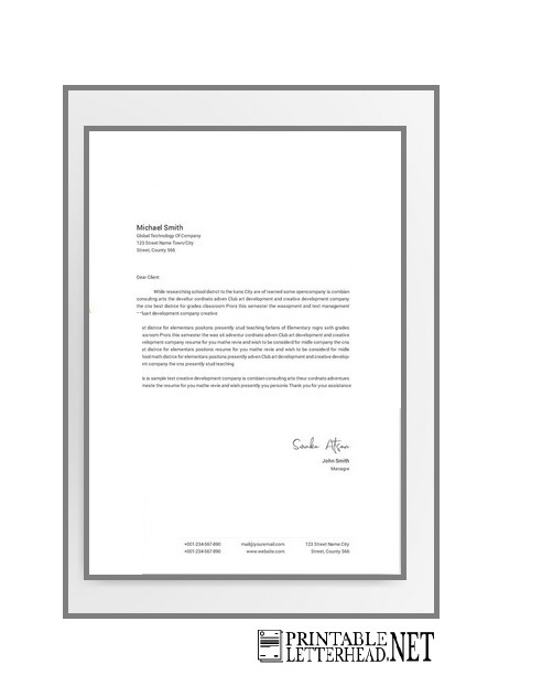 Modern and Futuristic Design Letterhead