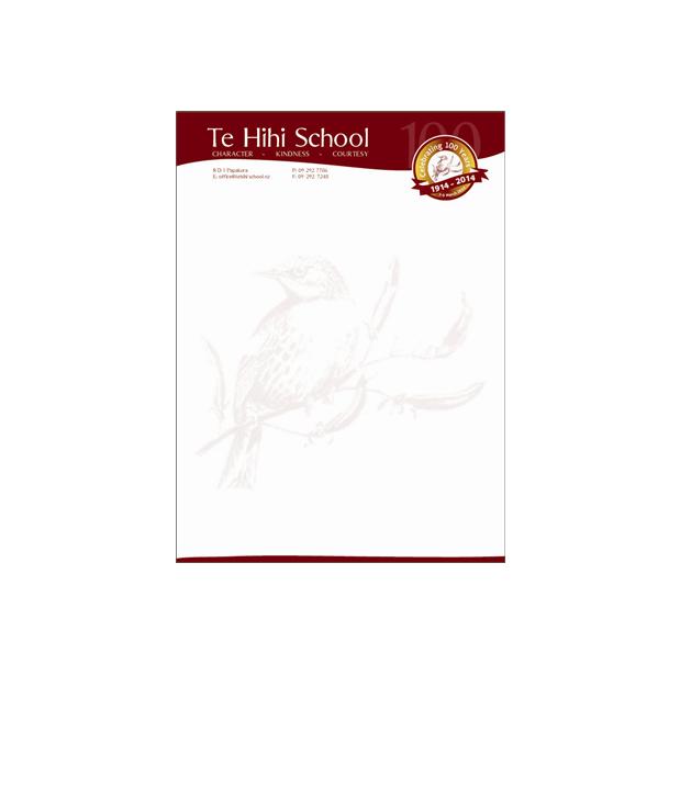 Personable School Letterhead