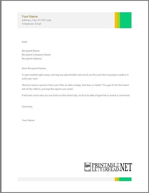 Free Personal Letterhead Design