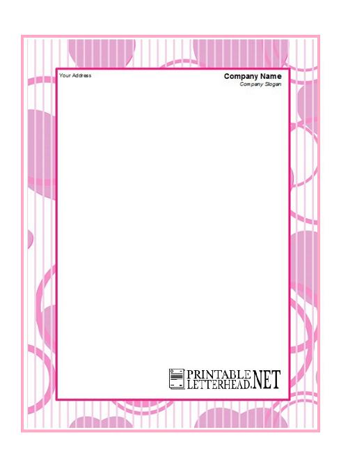 Personal Letterhead Design Printable