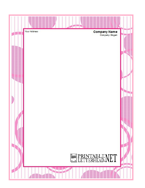 Professional personal letterhead template