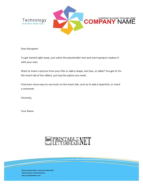 Technology Business Ideas Letterhead