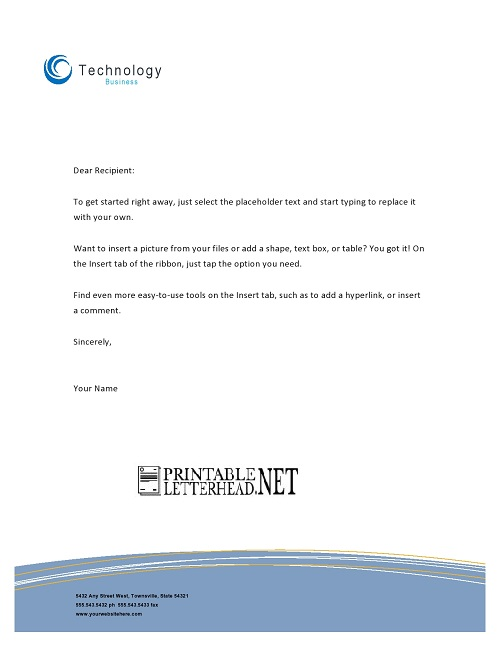 Technology Business Letterhead Template