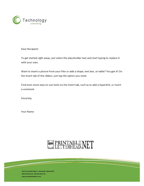 Technology Business Letterhead