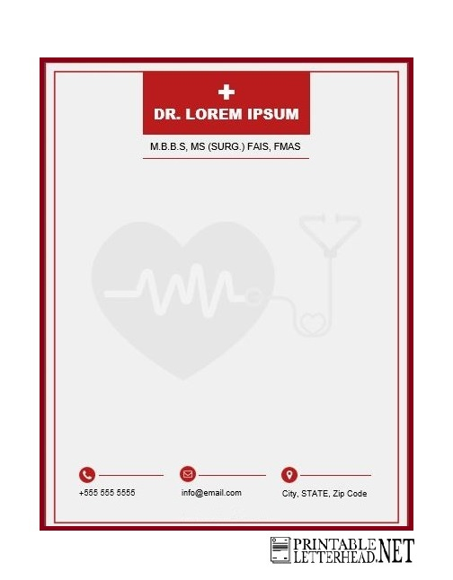 doctor medical letterhead