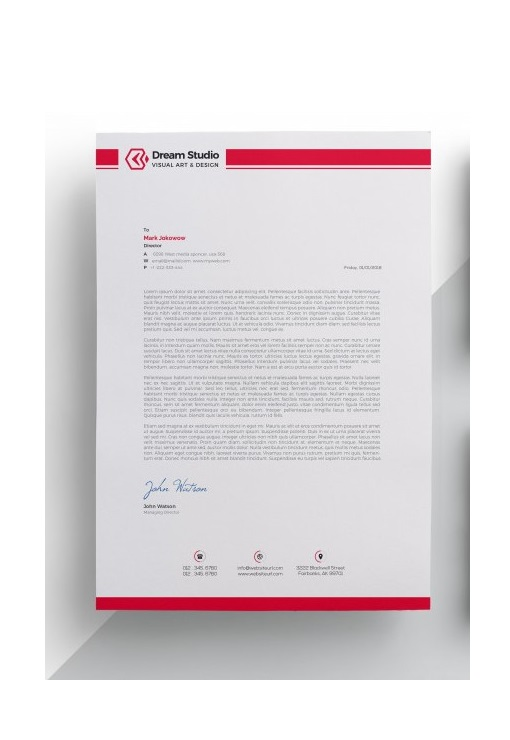 fancy letterhead example