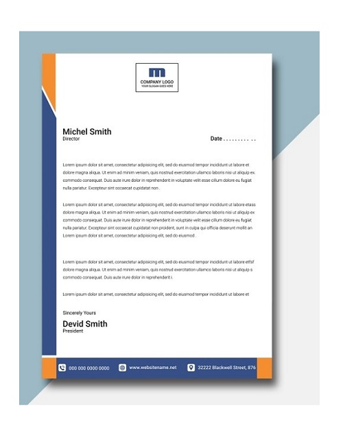 fancy letterhead sample