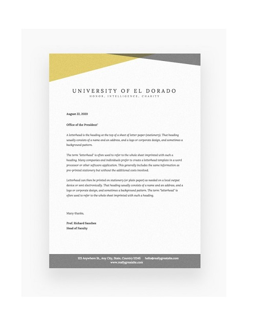 fancy letterhead template