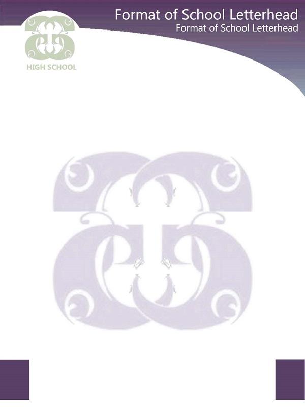 format of school letterhead