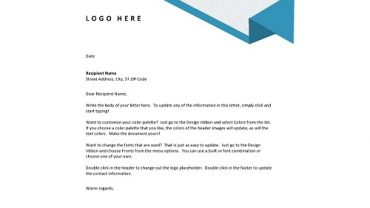 letterhead examples for business new