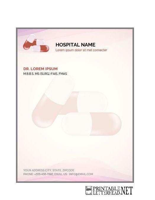 medical letterhead format