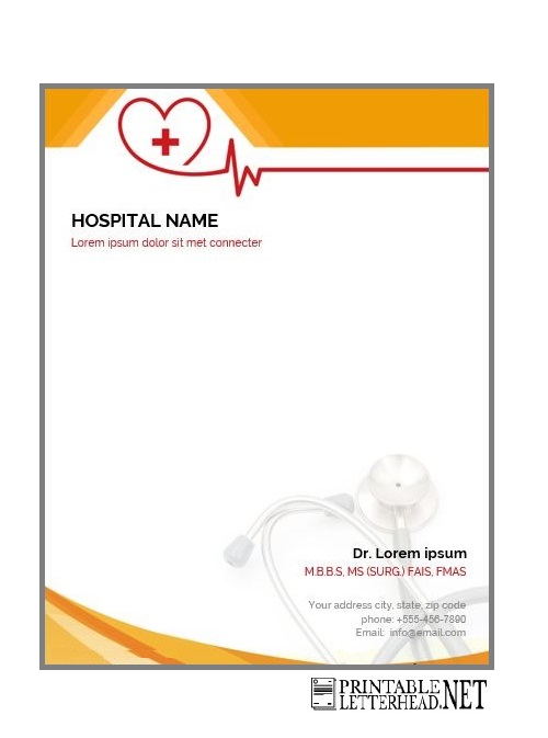 medical letterhead sample