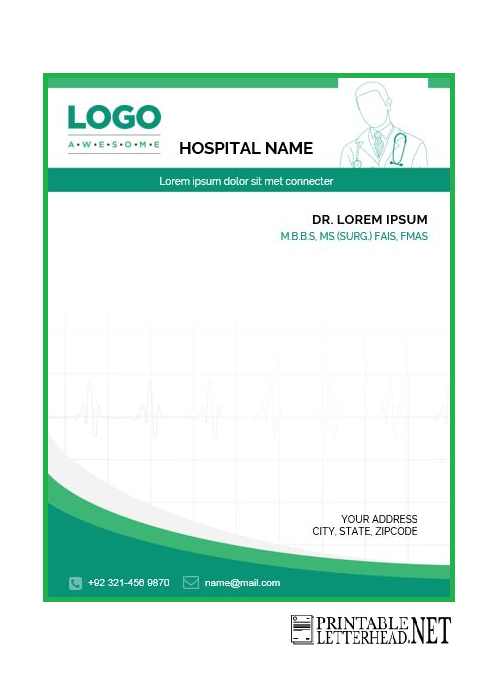 medical letterhead template
